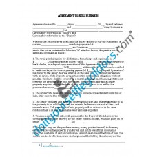 Agreement To Sell Business