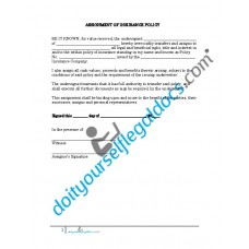 Assignment of Insurance Policy