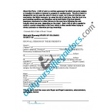 Bill of Sale of Boat Vessel - Colorado (Sold with Warranty)