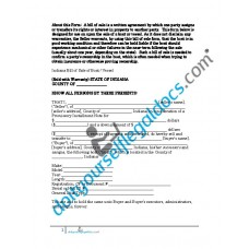 Bill of Sale of Boat Vessel - Indiana (Sold with Warranty)