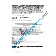 Bill of Sale of Boat Vessel - Nevada (Sold with Warranty)