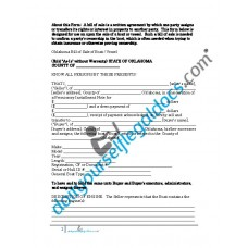 Bill of Sale of Boat Vessel - Oklahoma (Sold without Warranty)