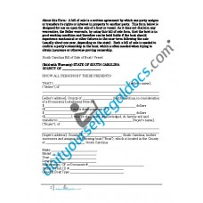 Bill of Sale of Boat Vessel - South Carolina (Sold with Warranty)