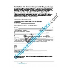 Bill of Sale of Boat Vessel - Virginia (Sold with Warranty)