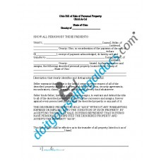 Bill of Sale of Personal Property - Ohio (No Warranty)