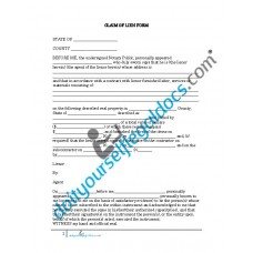 Claim of Lien Form