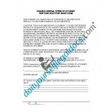 Durable General Power of Attorney New York Statutory Short Form