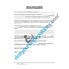Limited Liability Company Articles of Organization - New Jersey