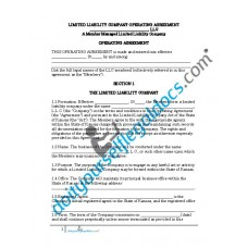 Limited Liability Company Operating Agreement (Member Managed) - Kansas