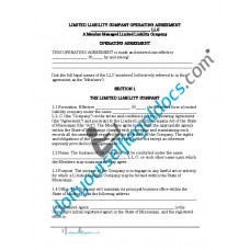 Limited Liability Company Operating Agreement (Member Managed) - Mississippi