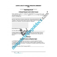 Limited Liability Company Operating Agreement - Manager Managed - Texas