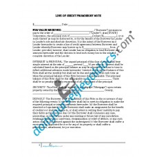 Line of Credit Promissory Note