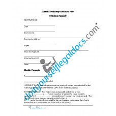 Alabama Promissory Installment Note  (w/Balloon Payment)