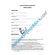 Promissory Installment Note (with Balloon Payment) - Louisiana