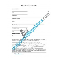 Alabama Promissory Installment Note