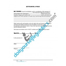 Quitclaim Bill Of Sale