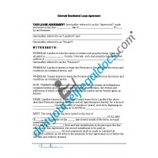 Residential Lease Agreement - Colorado