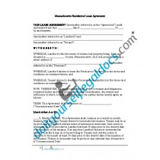 Residential Lease Agreement - Massachusetts
