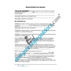 Residential Lease Agreement - Montana